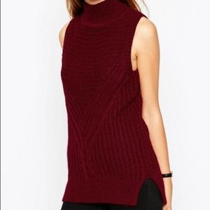 ASOS Chunky Knit Sleeveless Turtleneck Sweater